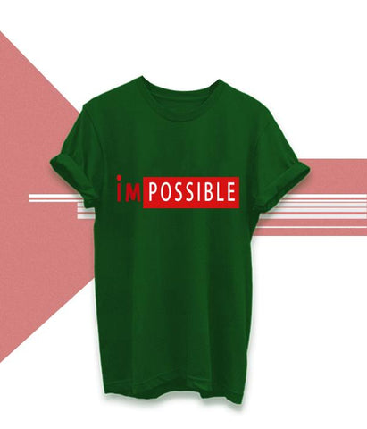 Green Color Cotton Unisex Tshirt - AFUR101