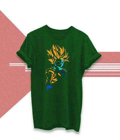 Green Color Cotton Unisex Tshirt - AFUR105