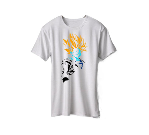 White Color Micro Polyester Unisex Tshirt - AFUR108