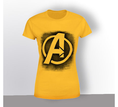 Yellow Color Cotton Submilation Womens Tshirt - AFWR102