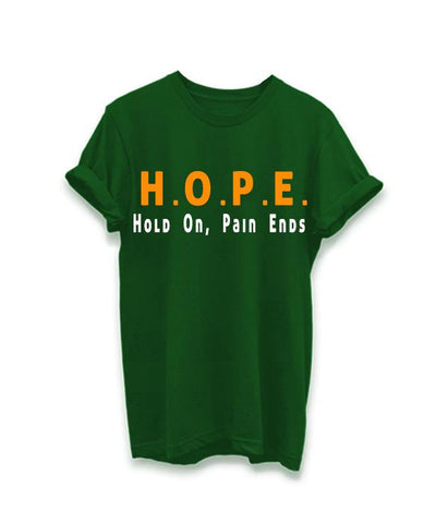 Green Color Cotton Women Tshirt - AFWR108