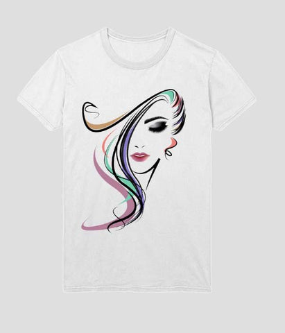 White Color Micro Polyester Womens Tshirt - AFWR110
