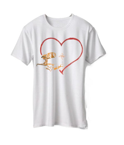 White Color  Micro Polyester Womens Tshirt - AFWR114