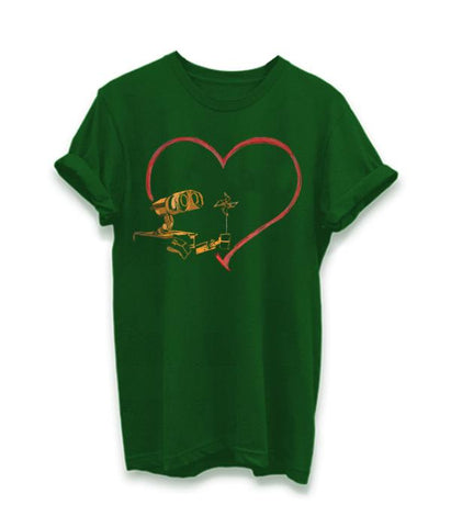 Green Color Cotton Submilation Womens Tshirt - AFWR115