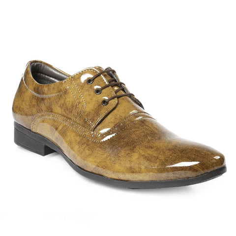 Tan Color Synthetic Men Formal Shoes - AGARWALS-23016