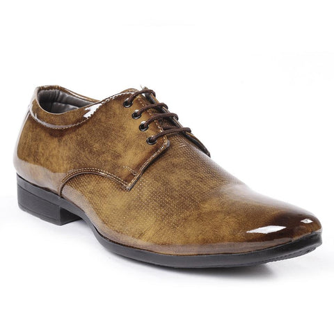 Teak Color Synthetic Men Formal Shoes - AGARWALS-23023