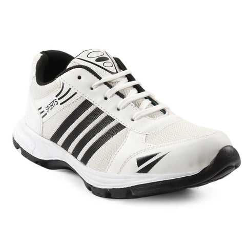 White Color Mesh Sports Shoes - AGW-23003