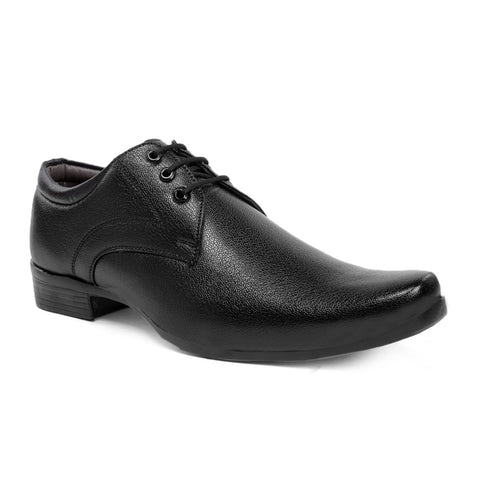Black Color Synthetic Formal Shoes - AGW-23008