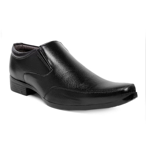 Black Color Synthetic Formal Shoes - AGW-23010
