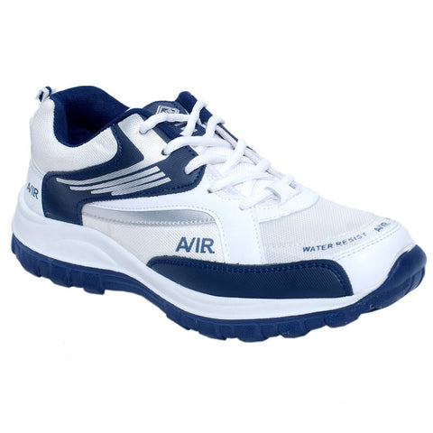 White And Blue Color Synthetic Men Shoes - AIR-WhiteNavy