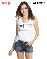 ALTAMOSS-Women's Stylish White Colored Polyester Tank Top- ALTTV18