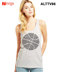 ALTAMOSS-Women's Stylish Grey Colored Polyester Tank Top- ALTTV66