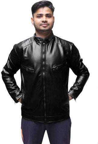 Black Color Viscose Mens Jacket - ALW-001
