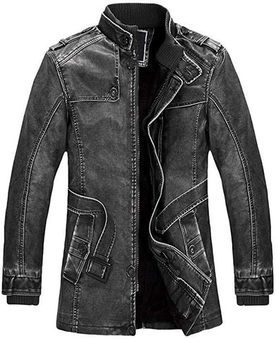Black Color Viscose Mens Jacket - ALW-007