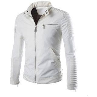 White Color Viscose Mens Jacket - ALW-013