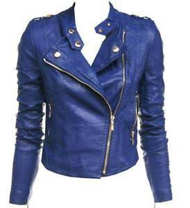 Blue Color Viscose Womens Jacket - ALW-016