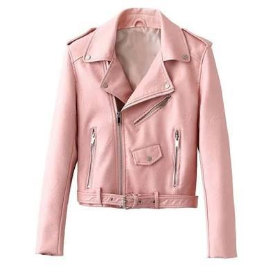 Pink Color Viscose Women Jacket - ALW-019
