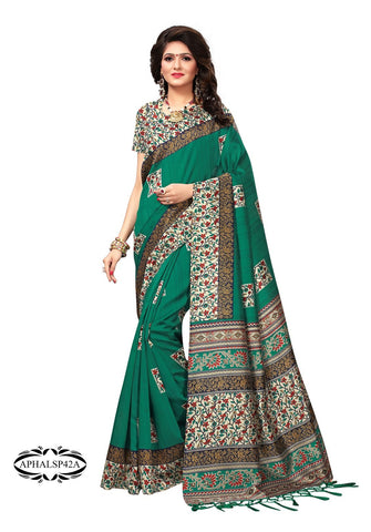 Sea Green Color Art Silk Saree - APHALSP42A