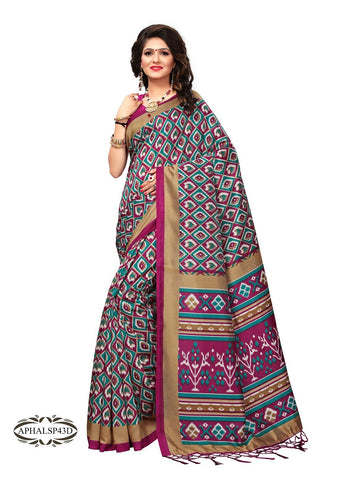 Magenta Color Art Silk Saree - APHALSP43D
