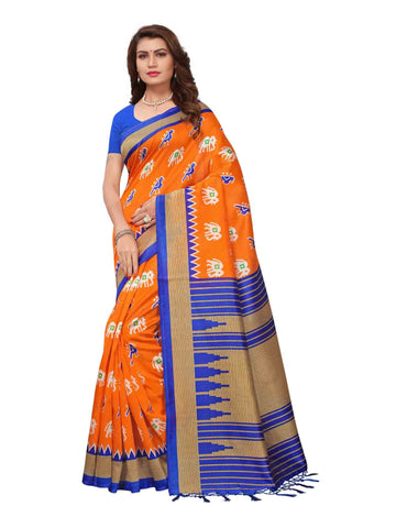 Orange Color Art Silk Saree - APHALSP47D