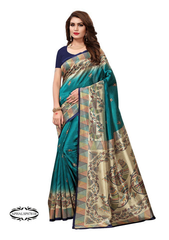 Sea Green Color Art Silk Saree - APHALSP8781B