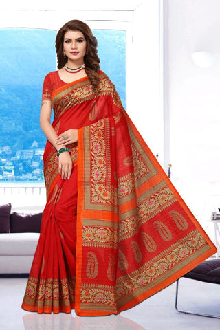 Pink Color Art Silk BhagalPuri Saree - APHB2010