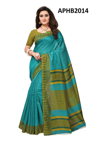 Green Color Art Silk BhagalPuri Saree - APHB2014