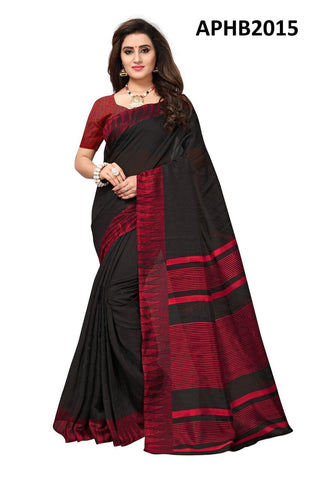 Black Color Art Silk BhagalPuri Saree - APHB2015