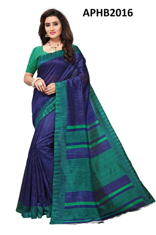 Blue Color Art Silk BhagalPuri Saree - APHB2016
