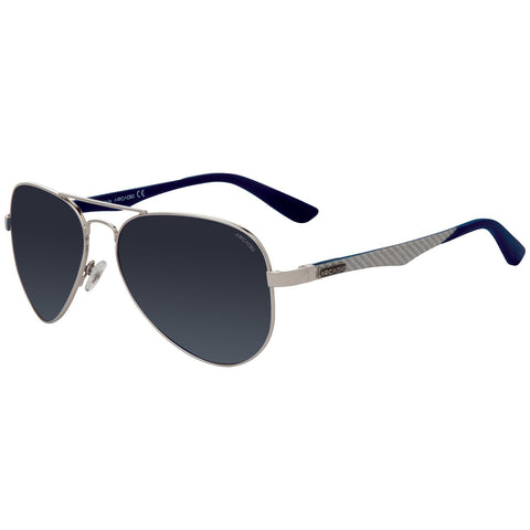 Silver Color Designer Carbon Fiber Polarized Aviator Sunglass - AR129SL-SLP