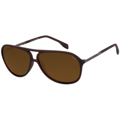 Brown Color Unisex Oval Polarized Sunglass - AR135BR-BRP