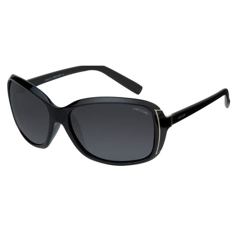 Black Color Oval Shaped Polarized Sunglass For Women - AR150BK-GYP