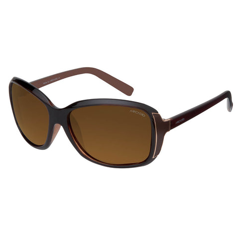 Brown Color Oval Shaped Polarized Sunglass For Women - AR150BR-BRP