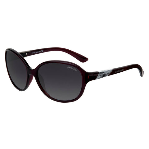 Burgundy Color Women Oval Sunglass - AR151BG-GY