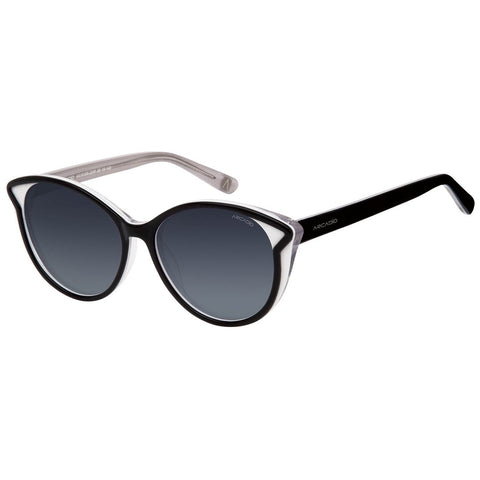 Black Color Cat Eye Polarized Women Sunglass - AR161BK-GYP
