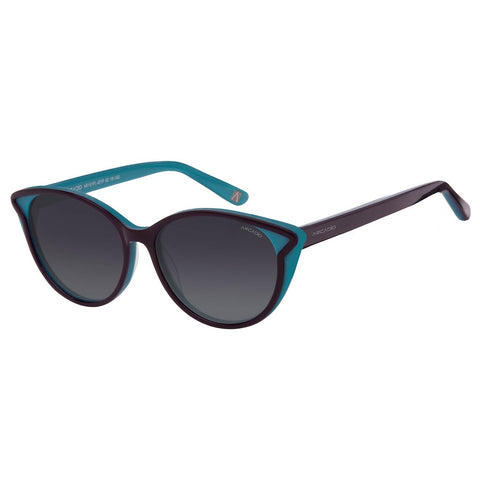 Blue Color Cat Eye Polarized Women Sunglass - AR161PL-GYP