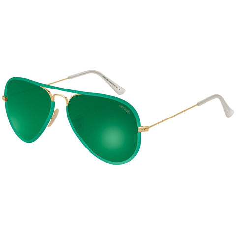 Green Color Premium Leather Wrapped Sunglass - AR183GR-GYGL