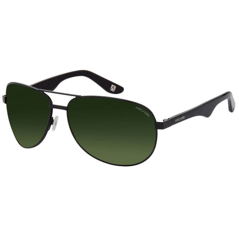 Green Color Unisex Oval Polarized Sunglass - AR185BK-G15P