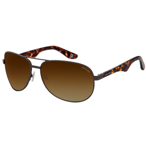 Brown Color Unisex Oval Polarized Sunglass - AR185HN-BRP