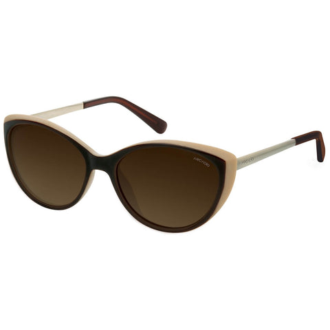 Brown Color Polarized Cat Eye Women's Sunglass - AR190BR-BRP