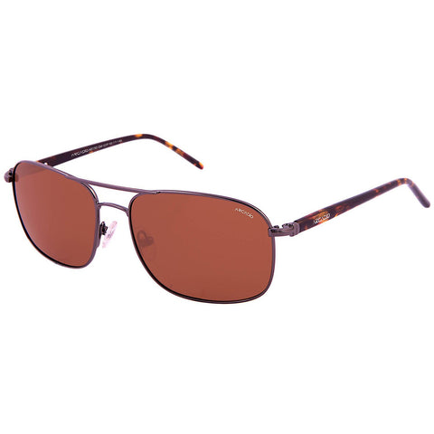 Brown Color Unisex Rectangular Polarized Sunglass - AR192DM-BRP