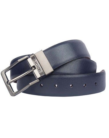 Blue Color Pure Leather Men's Belt - ARB1010RV