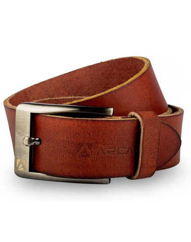 Red Color Pure Leather Men's Belt - ARB1015RD