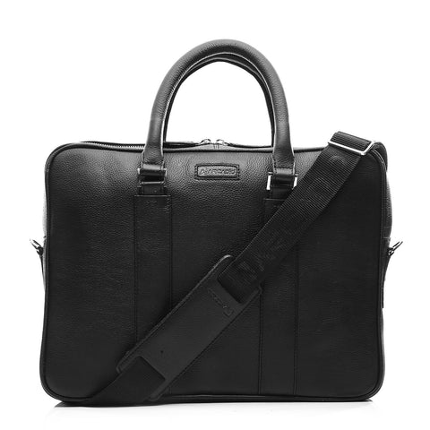 Black Color Pure Leather Men's Business Bag - ARBB1001BK