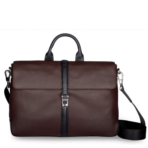 Brown  Color Pure Leather Men's Business Bag - ARBB1004BR
