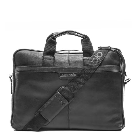Black Color Pure Leather Men's Business Bag - ARBB1005BK