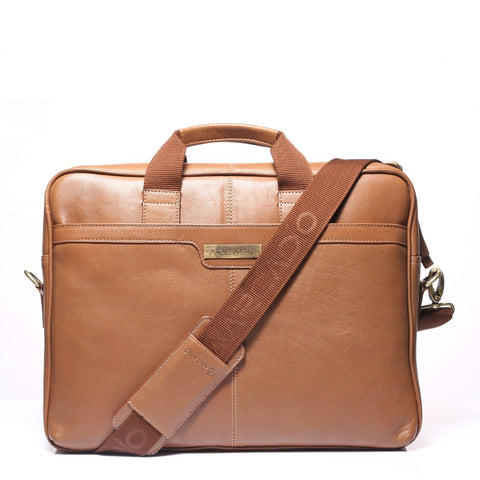 Tan Color Pure Leather Men's Business Bag - ARBB1005TN