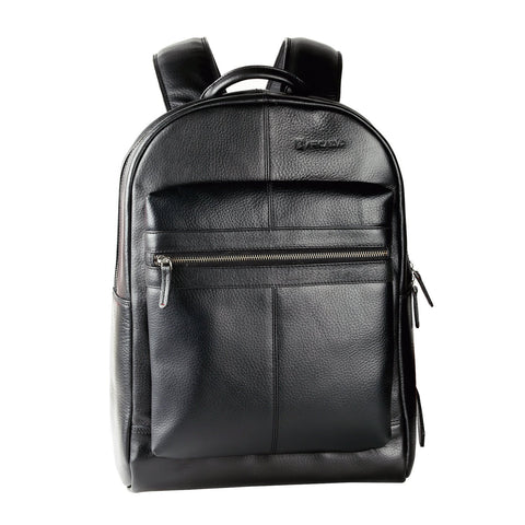 Black Color Pure Leather Men's Backpack Bag - ARBP1001BK