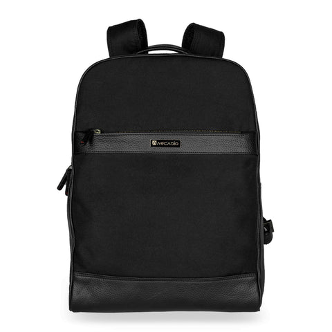 Black Color Pure Leather Men's Backpack Bag - ARBP1002BK