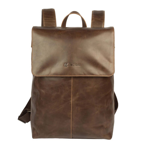 Brown  Color Pure Leather Men's Backpack Bag - ARBP1011BR
